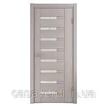 Межкомнатная дверь шпон натуральный ADRIANA-1 серая фабрики  Grand Wood