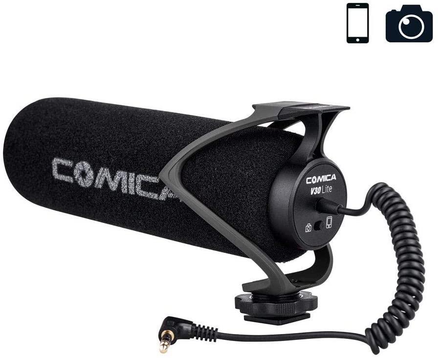 Внешний микрофон для камеры и смартфона Comica CVM-V30 Lite