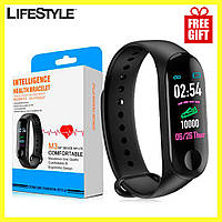 Фитнес-браслет / Часы Xiaomi Mi Band M3 (Реплика) / Смарт-браслет + Наушники в Подарок