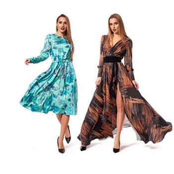 Легкие платья с длинным рукавом
