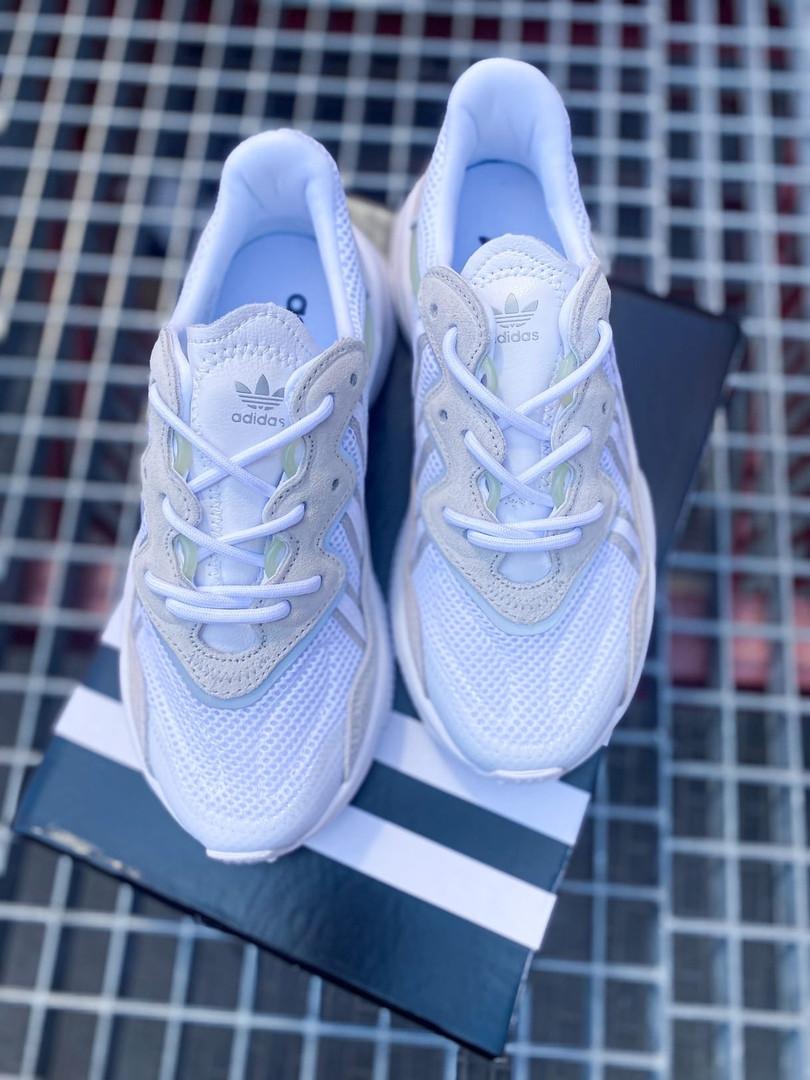 Кроссовки женские Adidas Ozweego White. Стильные женские кроссосвки.