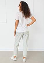 """Женская белая футболка с рисунком """"Lady"""", фото 2"""