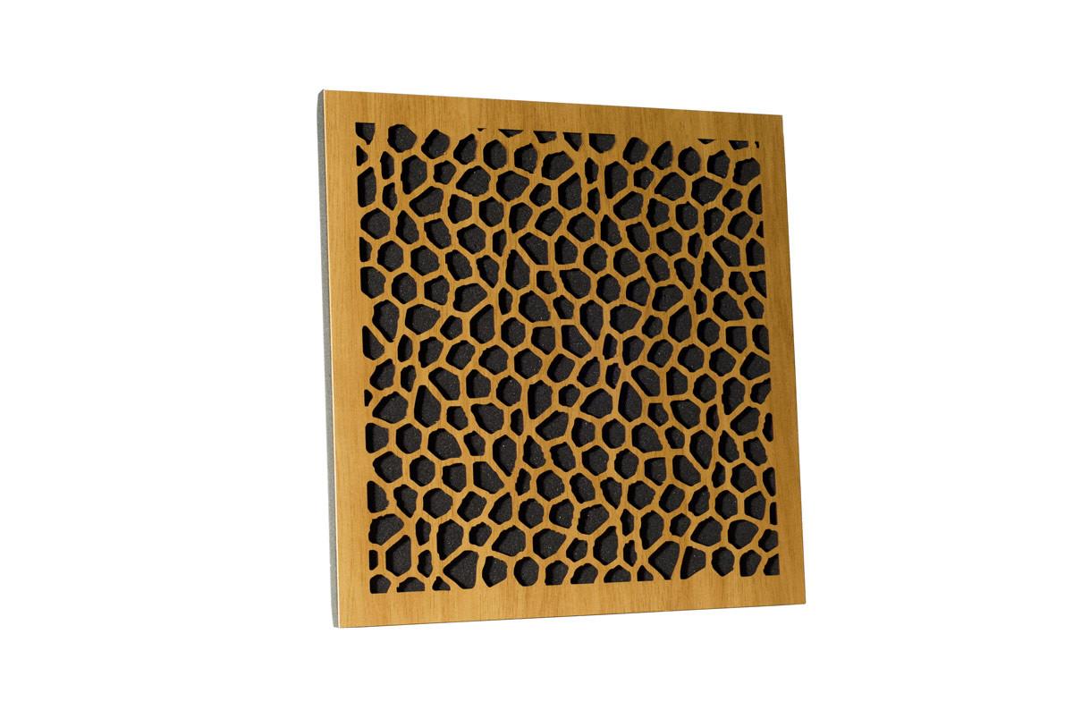 Акустическая панель Ecosound EcoNet cream 50х50 см 73мм цвет светлый дуб