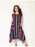 Яркое платье в полоску с карманами, фото 2