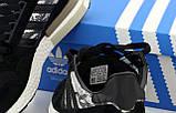 Мужские кроссовки Adidas ZX 500 в стиле адидас ЧЕРНЫЕ (Реплика ААА+), фото 6
