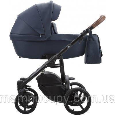 Детская универсальная коляска 2 в 1 Bebetto Luca PRO 11 (Эко кожа) Синий