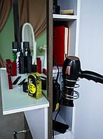"""Парикмахерское рабочее место с большим зеркалом держателем для фена и розетками М424 """"СТИЛЬ2"""" +держатель для фена"""