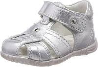 Летние серебристые сандали детские Primigi 22 размер кожа