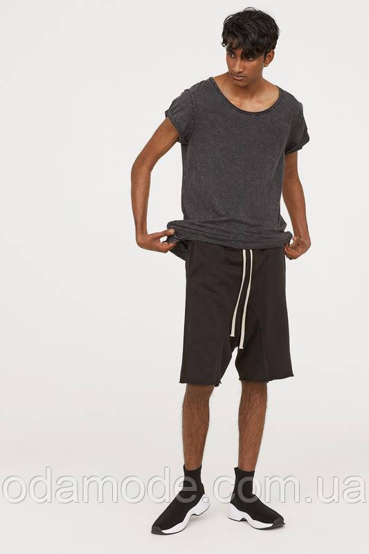 Чоловічі шорти трикотажні h&m чорні
