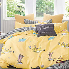 413 Комплект Постельного белья в кроватку Сатин Viluta