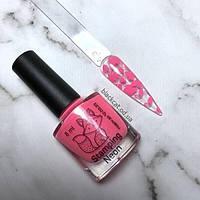 Лак-краска для стемпинга розовый неон Saga 8 мл, фото 1