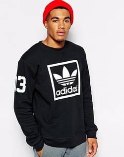 Мужская спортивная кофта (спортивный свитшот) Adidas, Адидас, черная (в стиле)