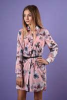 """Подростковая рубашка-платье """"Сакура"""" от бренда Polla Fashion"""