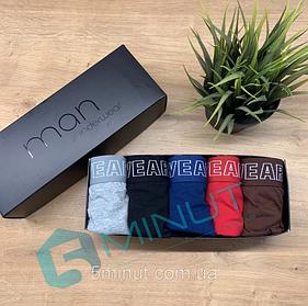 Набор качественных мужских полноразмерных трусов Man Underwear 5 штук (хлопок)