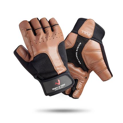 Перчатки для тяжелой атлетики и фитнеса c напульсником Way4you Мужские, фото 2