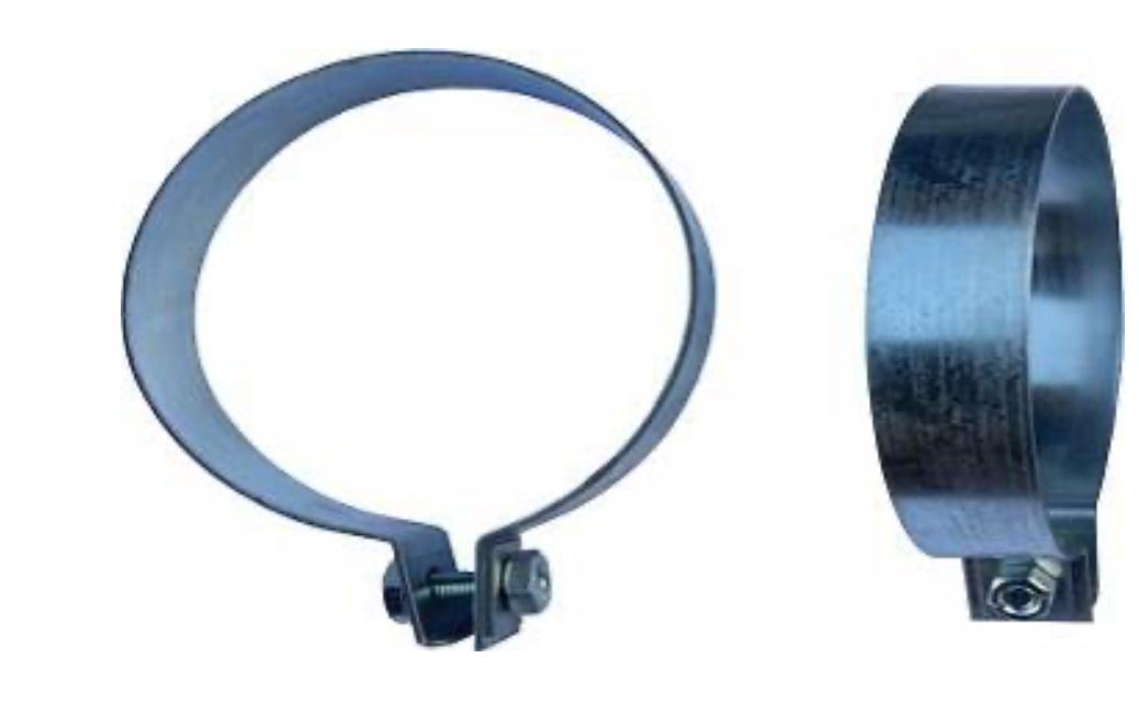 Хомут для труб кормления 90 мм // Зажим для кормовых труб 90 мм