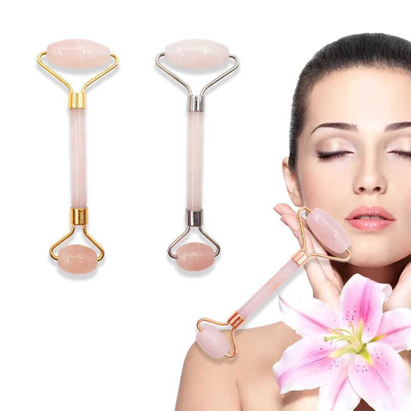 Роллер массажный нефрит розовый