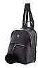 Молодежный рюкзак WeLassie 44404 с пушком, черный - Фото