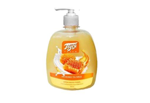 Жидкое крем-мыло «Пуся» Молоко и мед с антибактериальным эффектом 500 мл