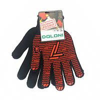 Перчатки DOLONI  ПВХ черные, размер 12
