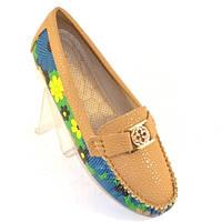 Летние женские туфли мокасины
