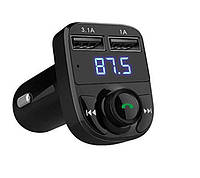 FM-трансмиттер Car X8 2USB Bluetooth Черный 8251509, КОД: 1269356