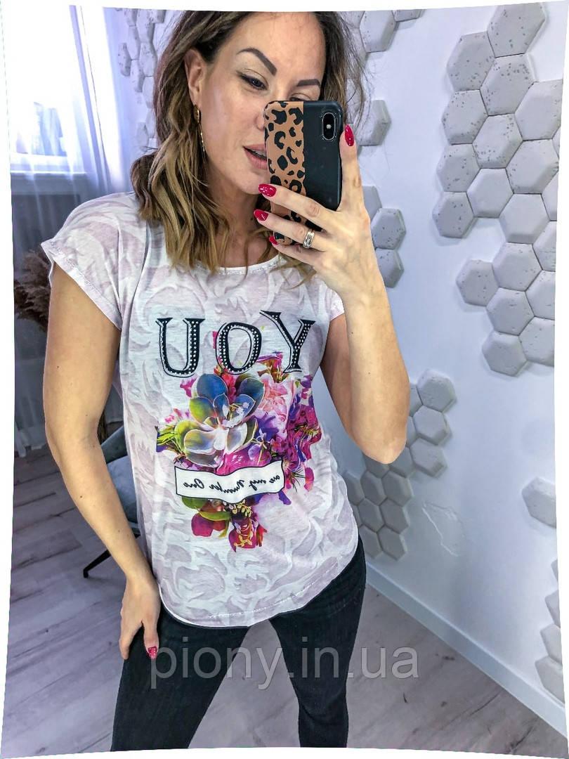 Жіноча стильна футболка принт