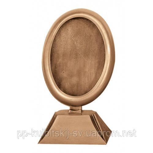 Декор для памятника рамка бронзова  L300/13*18