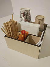 Органайзер барный деревянный для HoReCa и фаст-фуда на 5 отделов