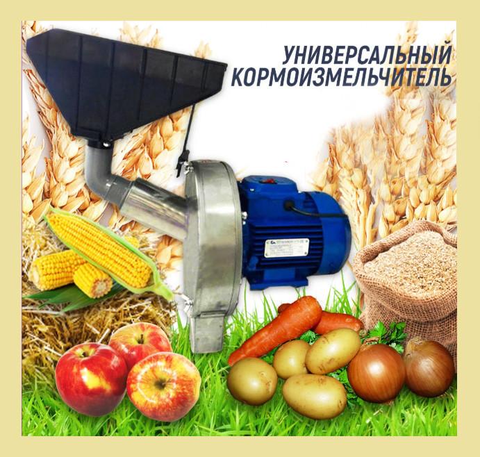 Кормоизмельчитель универсальный Эликор-1 исполенение 8 (фрукты, овощи, початки кукурузы, зерно)