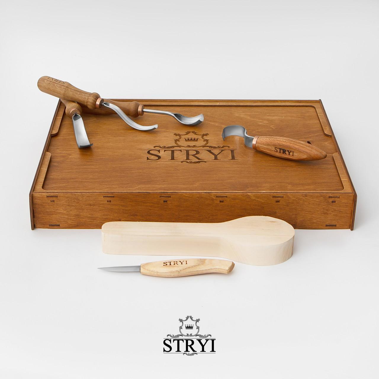 Набор стамесок для вырезания ложки, тарелки и других изделий