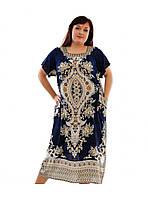 Штапельное платье батал