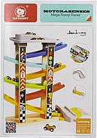 Іграшка дерев'яна  вежа Швидкісний спуск, 5 поверхів №120334 Top Bright