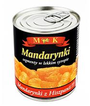 Мандарин в сиропе M&K 312 g