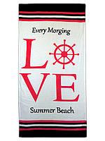 Пляжное полотенце LOVE  70х140см