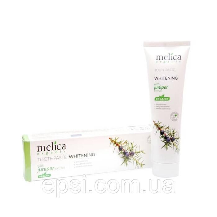 Отбеливающая зубная паста Melica Organic c экстрактом можжевельника, 100 мл