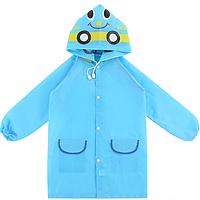 Плащ - дождевик детский Машина Голубой 110-120 см. Уценка