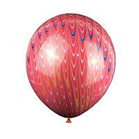 """Воздушный шар """"Хвост павлина красный"""" 18"""" (Китай), фото 1"""