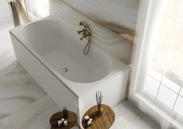 Ванна MIRAGGIO TASMANIA глянцевая с литого мрамора, фото 2