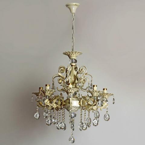 Люстра со свечами хрустальная IMPERIA восьмиламповая LUX-544154
