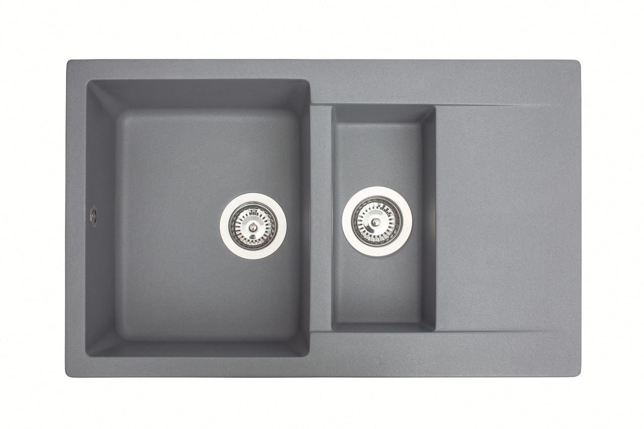 Кухонная мойка гранитная MIRAGGIO LAPAS gray