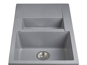 Кухонная мойка гранитная MIRAGGIO LAPAS gray, фото 3