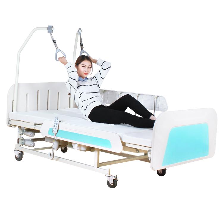 Медицинская электрокровать с туалетом MIRID E36. Широкая кровать для инвалида. Кровать для реабилитации.