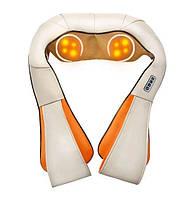 Роликовый массажер с подогревом, Massager of Neck Kneading 101-6, электромассажер для шеи, спины, головы (ST)