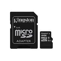 Карта памяти Kingston 16 Gb microSDHC Canvas Select Plus R100MB/s + SD (SDCS2/16GB) для хранения данных