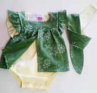 Боди платье для девочек 86 рост солоха - В ПОДАРОК (62,68,74,80,86)