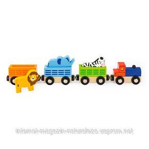 Набор к железной дороге Viga Toys Поезд с животными (50822), фото 2