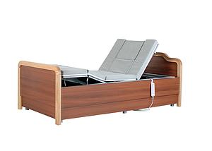 Медицинская электро кровать с туалетом и боковым переворотом MIRID E101. Кровать с регулировкой высоты., фото 2