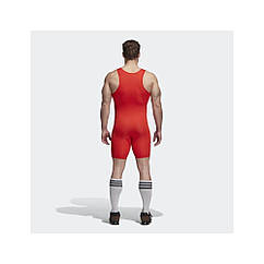 Тяжелоатлетическое трико Adidas PowerLiftSuit красное