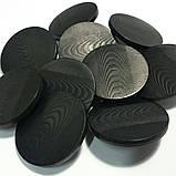 Пуговица пластиковая на металлической ножке. Диаметр 2,3 см. Цвет черный., фото 4